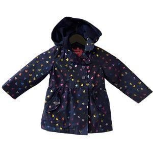 London Fog Holographic Heart Raincoat